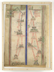 Northern Italy, In Matthew Paris's Map Of The Itinerary From London To Jerusalem